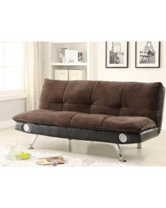 Wallace Sofa Bed with Bluetooth Speakers - Brown/Black