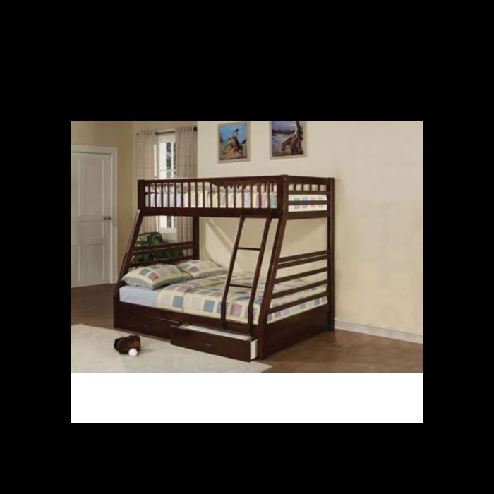 Jason Walnut Bunk Bed - Twin / Full