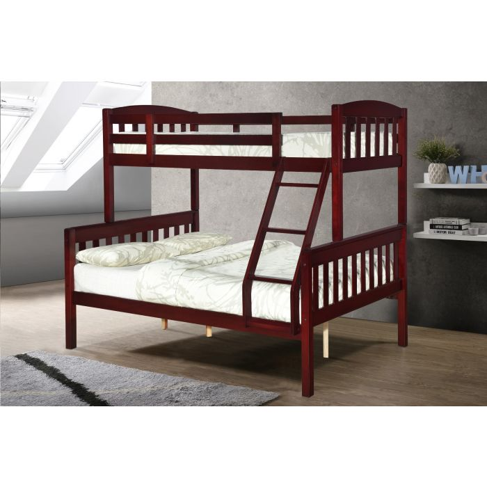 Tope Mahogany Twin over Full Bunk Bed