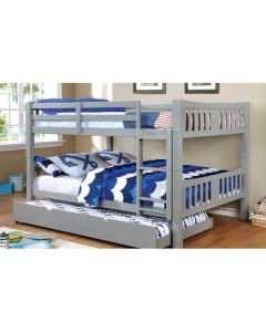 Carlos Twin Over Twin Gray Bunk Bed