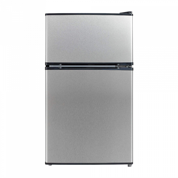Emerson CR510BSSE 3.1-Cubic Foot Compact Double Door Refrigerator - Stainless Steel