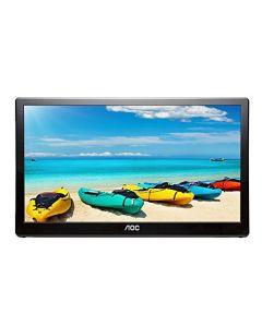"Aoc I1659Fwux 15.6"" Usb-Powered Portable Monitor - Full Hd 1920X1080 Ips - Built-In Stand - Vesa"