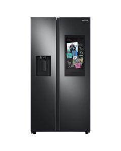 Samsung RS27T5561SG 26.7 cu. ft. Family Hub Side by Side Smart Refrigerator in Fingerprint Resistant - Black Stainless Steel