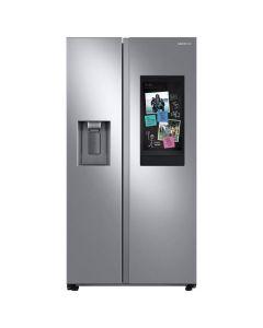 Samsung RS27T5561SR 26.7 cu. ft. Family Hub Side by Side Smart Refrigerator in Fingerprint Resistant -Stainless Steel