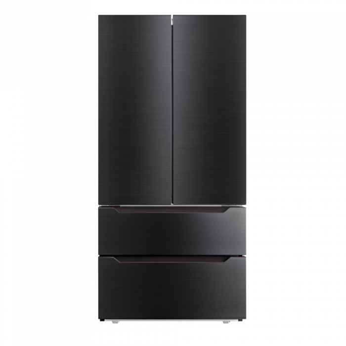 Toscana FD225BSS 22.5CFT French Door Refrigerator - Black Stainless steel