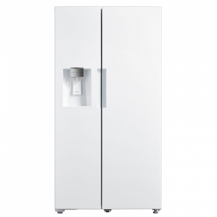 Toscana SBS263W 26.3CFT Side by Side Refrigerator - White
