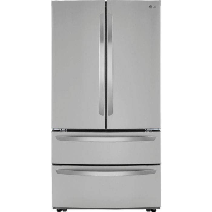 LG LMWS27626S 26.9 Cu. Ft. 4-Door French Door Refrigerator with Internal Water Dispenser and Icemaker - Stainless Steel