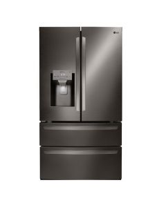 LG LMXS28626D 22.7 Cu. Ft. 4-Door French Door Counter-Depth Refrigerator with Double Freezer and Internal Water Dispenser - Stainless Steel
