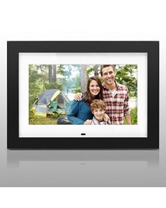 Aluratek ADMPF410T 10 Inch Digital Photo Frame with 4GB Built-in, Music & Video Support, Black (White Matting), Auto On-Off, Calendar, Remote