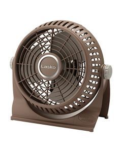 Lasko 505 Small Desk Fan With10-Inch Pivoting Head - Portable Electric Plug-In Table Fan Creates A Quiet Personal Cooling Breeze - Ideal For Travel - Bedroom - Dorm - And Office - Bronze