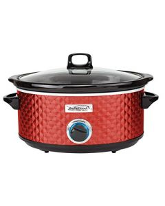 Brentwood Select Sc-157R Slow Cooker - 7 Quart - Red