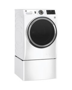 GE GFW650SSNWW 4.8 Cu. Ft. 12-Cycle High-Efficiency Front-Loading Washer / SmartDispense - White On White