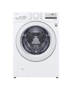LG WM3400CW 4.5 Cu. Ft. 8-Cycle High-Efficiency Front-Loading Washer with 6Motion Technology - White