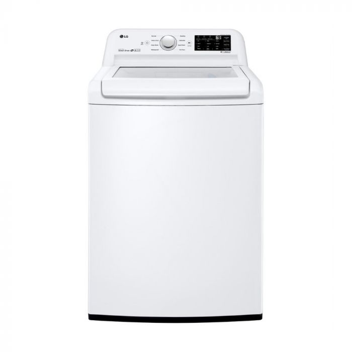 LG WT7100CW 4.5 Cu. Ft. 8-Cycle Top-Loading Washer with 6Motion Technology - White
