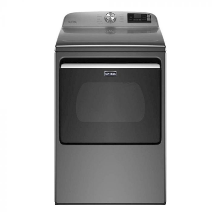 Maytag MED6230HC 7.4 Cu. Ft. 11-Cycle Electric Dryer and Extra Power Button - Metallic Slate