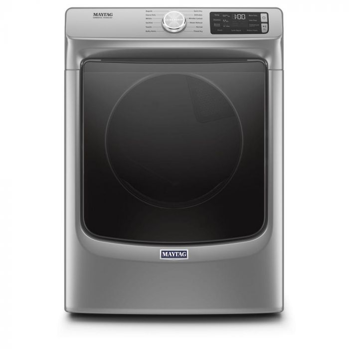 Maytag MED6630HC 7.3-cu ft Stackable Steam Cycle Electric Dryer - Metallic Slate