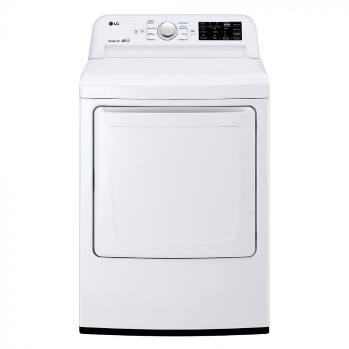 LG DLE7100W 7.3 Cu. Ft. 8-Cycle Electric Dryer with Sensor Dry - White