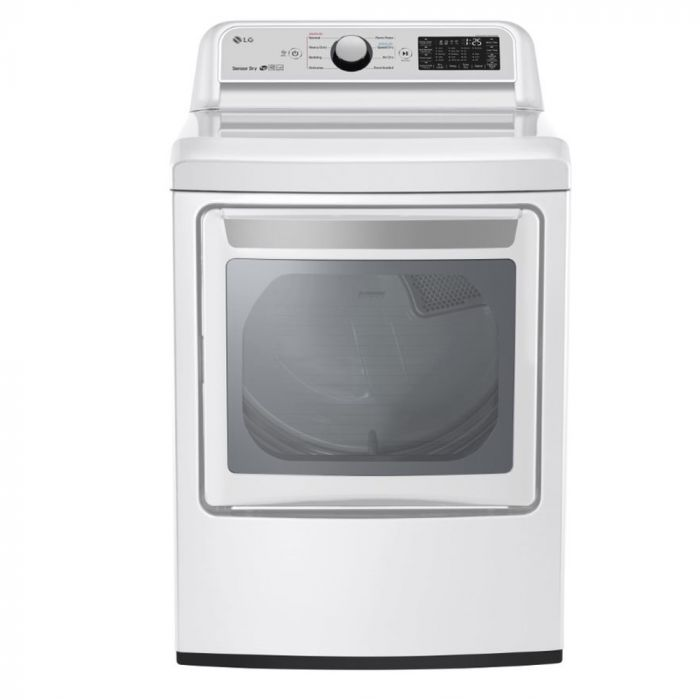 LG DLE7300WE 7.3 Cu. Ft. 9-Cycle Electric Dryer - White