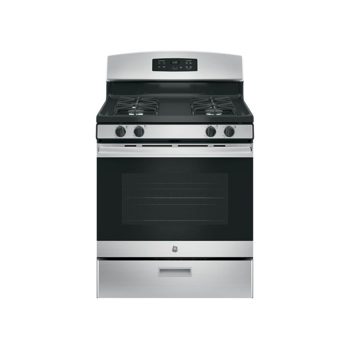 GE JGBS60REKSS 4.8 cu. ft. 4-Burner Freestanding Gas Range - Stainless Steel