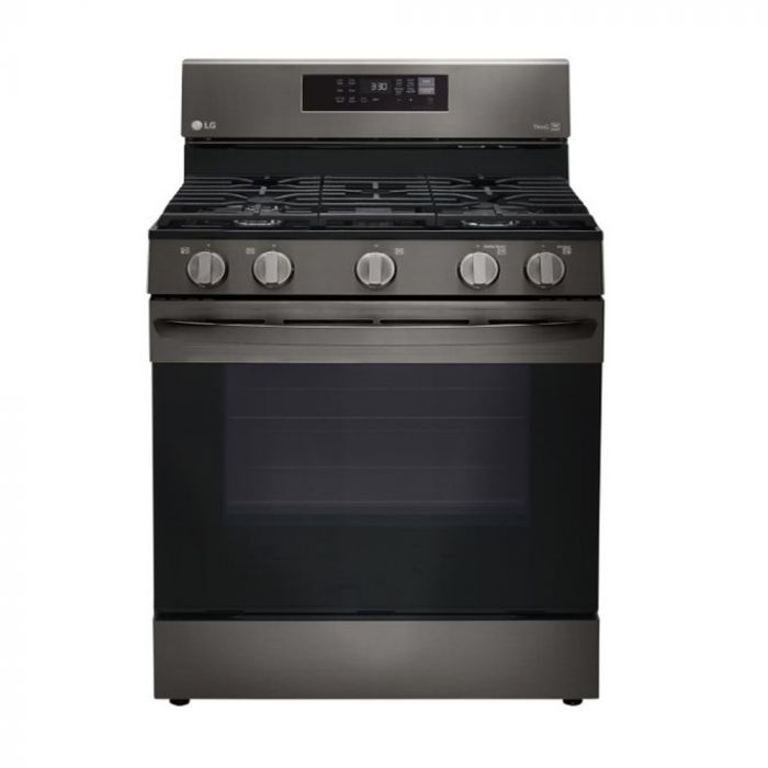 """LG LRGL5823D 30"""" Gas Single Oven Range with 5.8 cu. ft. - Black Stainless Steel Smart"""