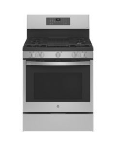 GE PGB935YPFS 30 in. 6.4 cu. ft. Gas Range with Self-Clean Convection Oven in Stainless Steel Fingerprint Resistant