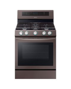 Samsung NX58R6631ST 5.9 Cu. Ft. Convection Freestanding Gas Range- Tuscan Stainless Steel