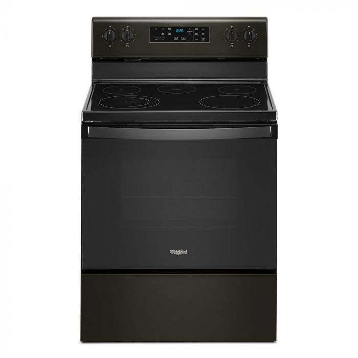 Whirlpool WFE505W0JV 5.3 Cu. Ft. Freestanding Electric Range with Self-Cleaning and Frozen Bake - Black stainless steel