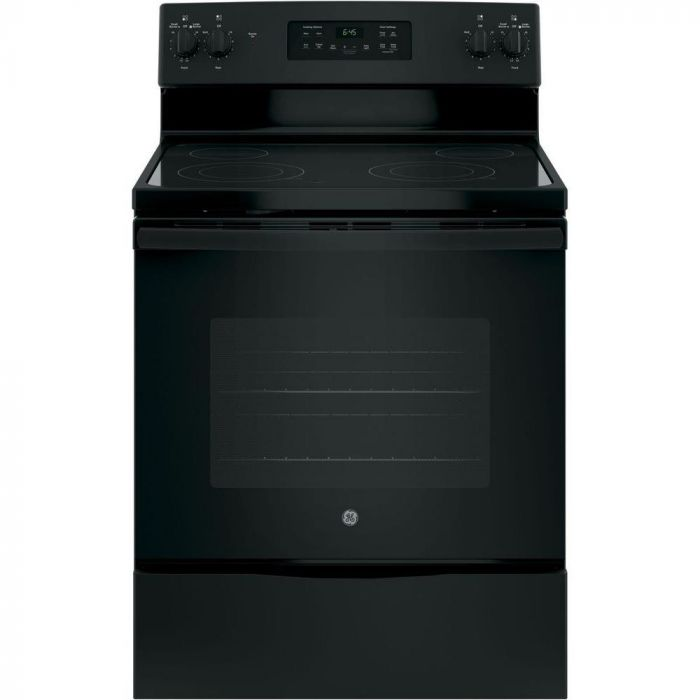 GE JB645DKBB 5.3 Cu. Ft. Self-Cleaning Freestanding Electric Range - Black