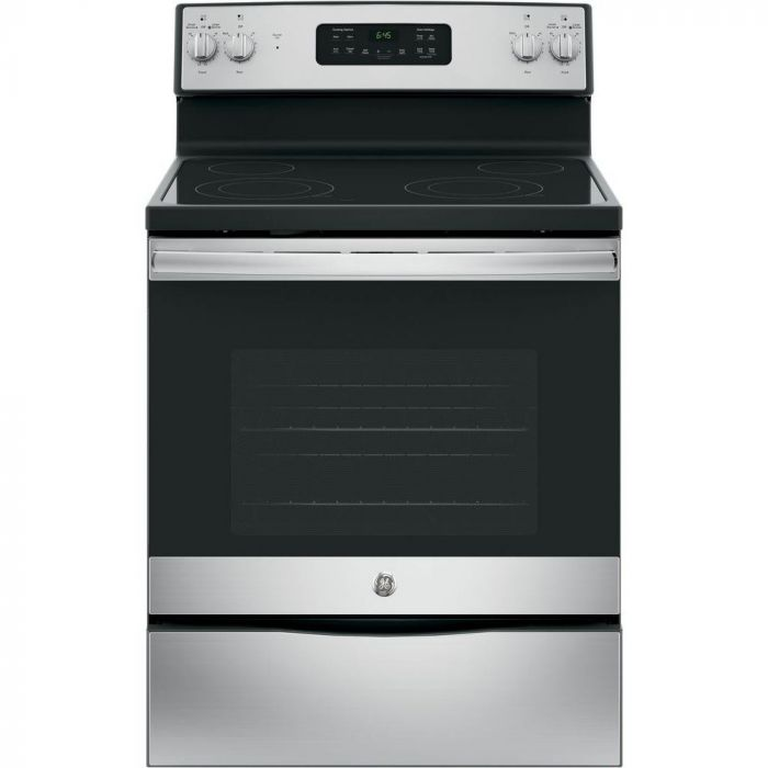 GE JB645RKSS 5.3 Cu. Ft. Self-Cleaning Freestanding Electric Range - Stainless steel