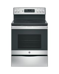 GE JB655YKFS 5.3 Cu. Ft. Self-Cleaning Freestanding Electric Convection Range - Stainless steel
