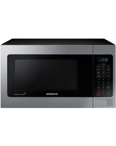 Samsung MG11H2020CT 1.1 cu. ft. Countertop Microwave with Ceramic Enamel Interior - Stainless Steel