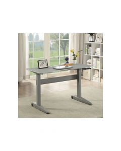 Adjustable Ht. Desk, Gray Small (18-P990)