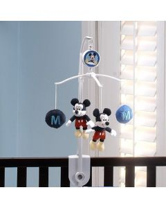 Disney Mickey Mouse Musical Mobile - Red/ Blue/White
