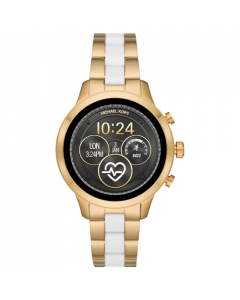 Michael Kors Women's Runway Stainless Steel Silicone Bracelet Touchscreen SmartWatch - Gold & White