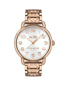 Coach Women's Delancey Rose Gold-Tone Ion-Plated Stainless Steel Bracelet Watch