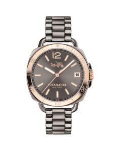 Coach Women's Tatum Gray Ion-Plated Stainless Steel Bracelet Watch