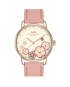 Coach Women's Grand Blush Leather Strap Watch - Blush