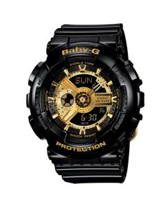 Casio Baby-G Women's Analog-Digital Resin Strap Watch - Black