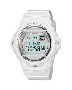 Casio Baby-G Women's Digital Resin Strap Watch - White