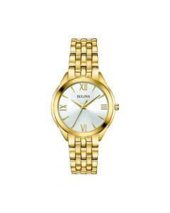 Bulova Womens Classic Watch - Gold