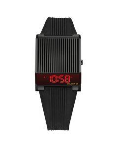 Bulova Men's Digital Archive Computron Black Silicone Strap Watch - Black