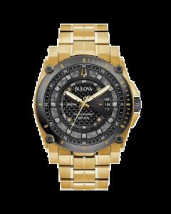Bulova Men's Precisionist Diamond Watch - Gold Tone Stainless Steel