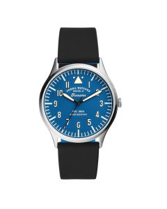 Fossil Forrester Stainless Steel & Silicone-Strap 3-Hand Watch - Silver/Blue
