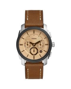 Fossil Mens Machine Watch - Brown / Amber Crystal