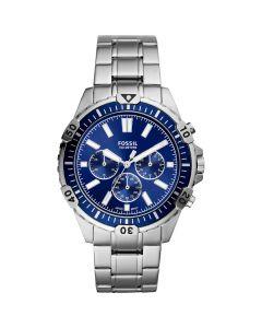 Fossil Men's Chronograph Garrett Stainless Steel Bracelet Watch - Navy