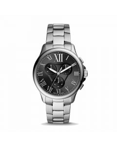 Fossil Monty Chronograph Stainless Steel Watch - Silver