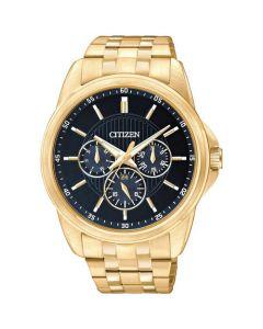 Citizen Men's Multifunction Stainless Steel Bracelet Watch - Gold
