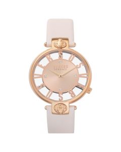 Versus by Versace Women's Kristenhof Leather Strap Watch- Blush/ Rose Gold