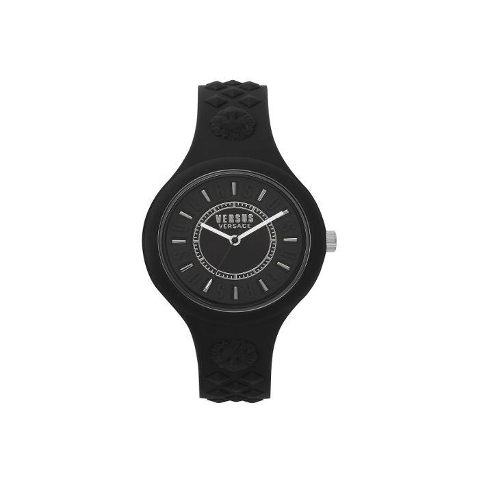 Versace Women's Versus Fire Island Silicone Strap Watch- Black