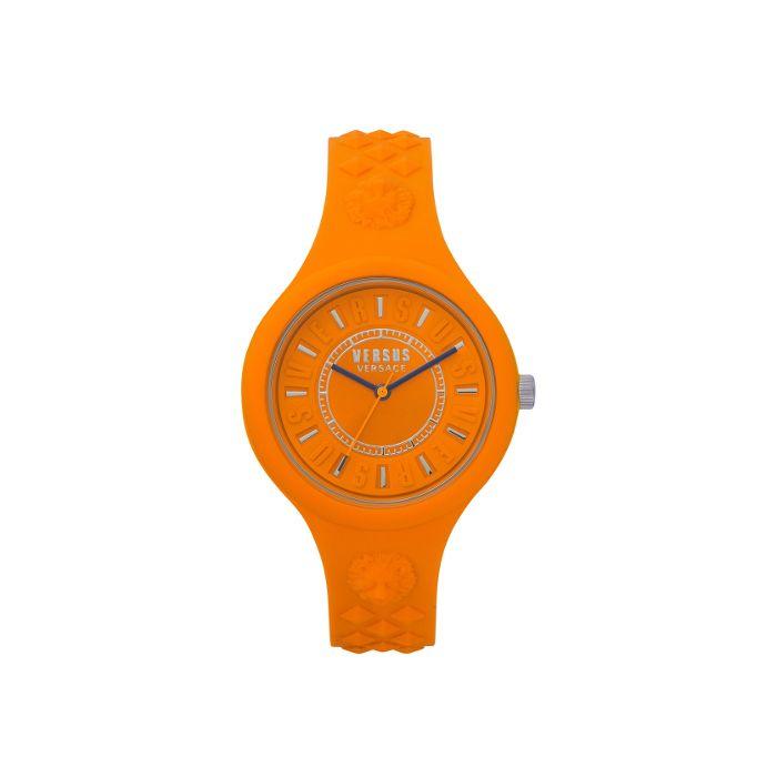 Versace Women's Versus Fire Island Silicone Strap Watch- Orange